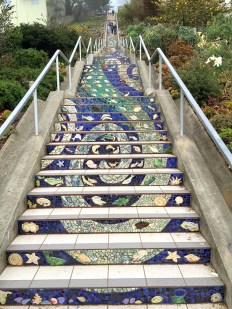 San Francisco 16th Avenue Tiled Steps Ocean and River Theme Mosaic