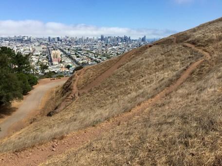 Bernal Heighta Park Trail in San Francisco