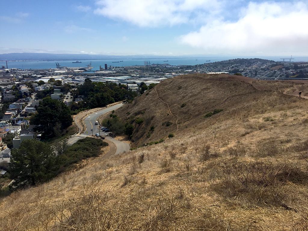 Hiking Bernal Hill at Bernal Heights Park