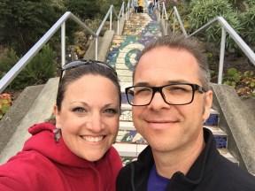 San Francisco Moraga Steps Selfie