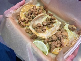 Centro Chicken Tacos Before Stopping By The Toppings Bar