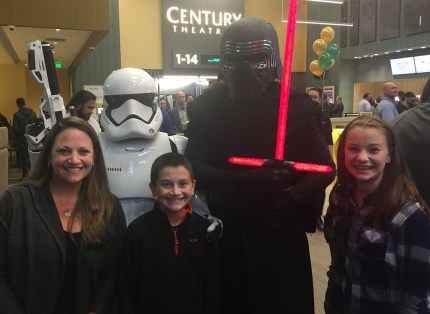 Kylo Ren and Storm Trooper At Century Arden 14 Grand Opening