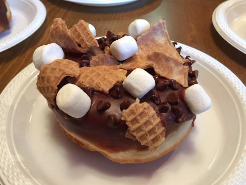 Chocolate Smores Donut