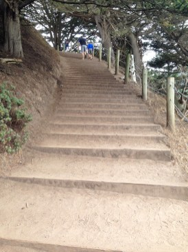 Hiking the Mile Rock Beach Stairs