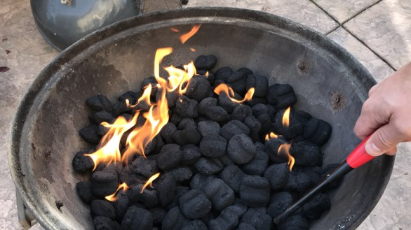 Prep The CHarcoal For Barbecuing a Whole Turkey