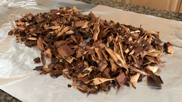 Soaked Wood Chips For Smoky Barbecue Turkey