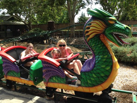 Flying Dragon Rollercoaster at Funderland in William Land Park