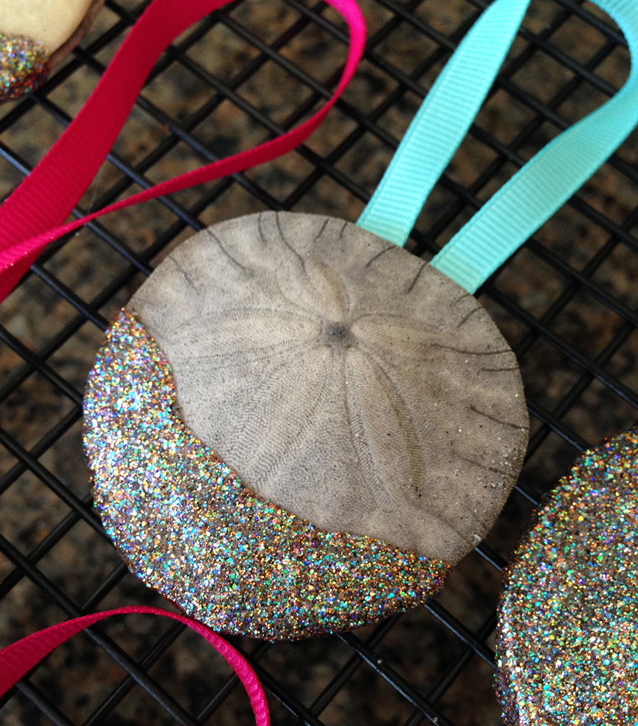 make christmas ornaments out of sand dollars