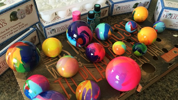 Painting Galss Ball Christmas Ornaments