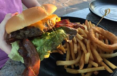 Bacon Cheeseburger And Fries