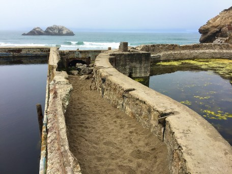 Concrete Sutro Baths Ruins in the Golden Gate National Recreation Area