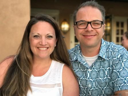 Jennifer Bourn and Brian Bourn in Hawaii