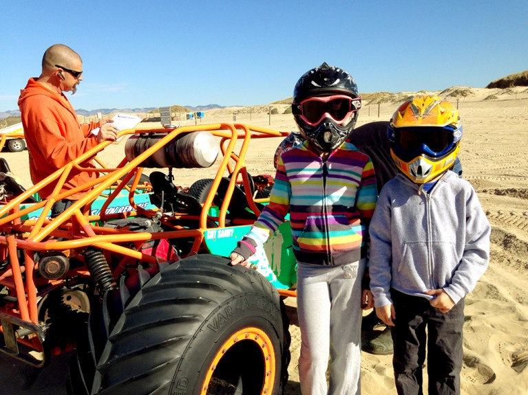 Kids Driving Dune Buggies at Pismo Beach