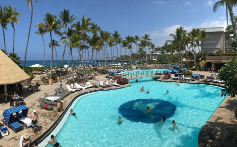Kona Pool Near the Orchid Market at Hilton Waikoloa Village Resort