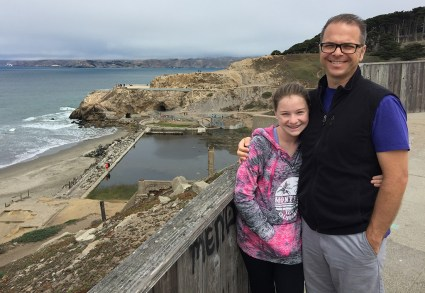 Natalie and Brian Bourn at the Sutro Baths Ruins