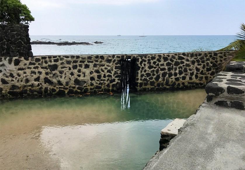 Hawaiian Fish Pond at Hulihe'e Palace