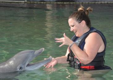 Jennifer Bourn at Dolphin Quest