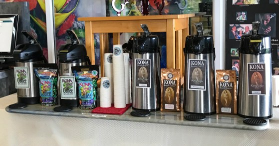 Pur Kona COffee Samples and Kona Blend Samples
