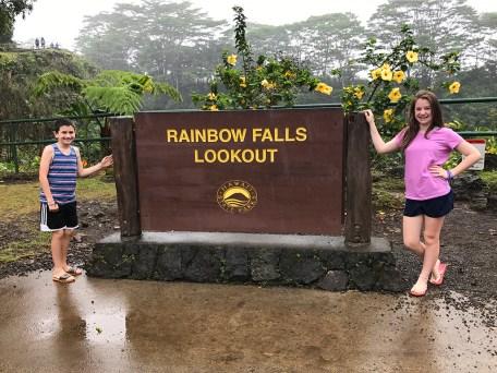 Rainbow Falls Lookout in Hilo, Hawaii