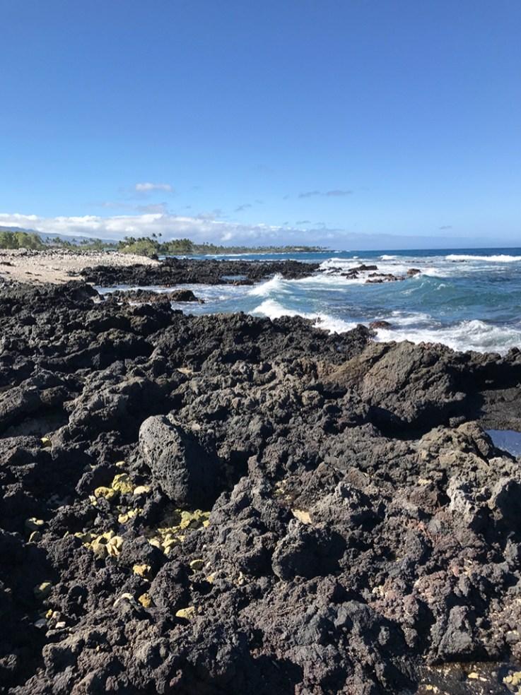 Holoholokai Beach Park at the Fairmont Orchid Has a Coral and Lava Rock Beach