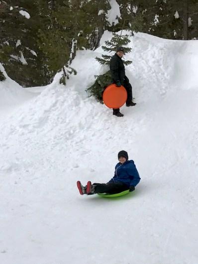 Sledding at Donner Summit