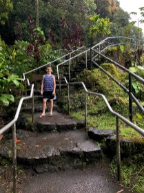 Trail and Stairs to the top of Rainbow Falls