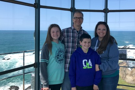 Bourn Family At The Top Of The Point Arena Lighthouse Light Tower