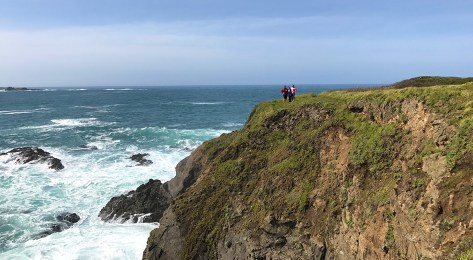 Bourn Family Exploring The Cliffs Of The Russian Gulch Headlands
