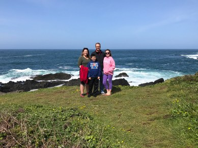Bourn Family at Russian Gulch State Park