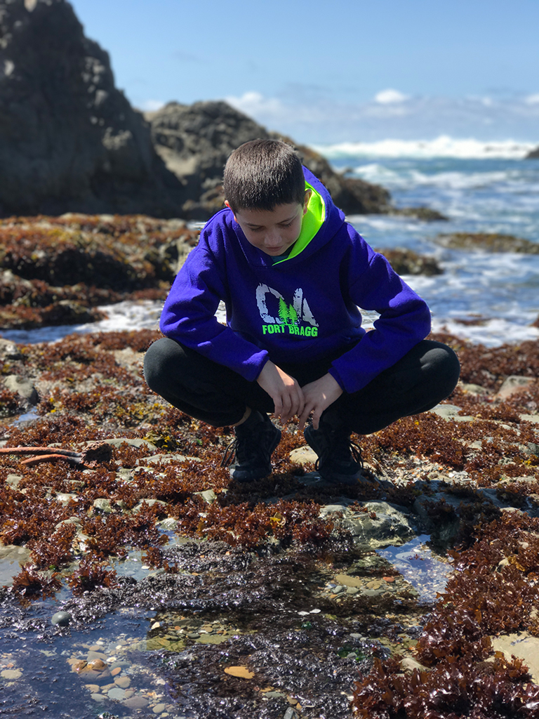Carter Bourn Exploring the tide pools at Laguna Point