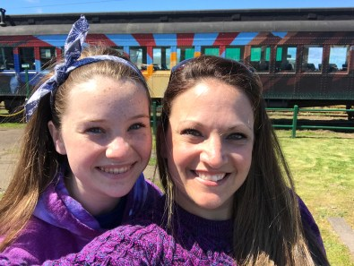 Natalie and Jennifer Bourn at the Skunk Train