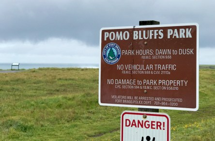Pomo Bluffs Park in Fort Bragg