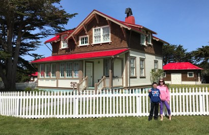 Restored Lightkeepers Cottages at Point Cabrillo Lighthouse