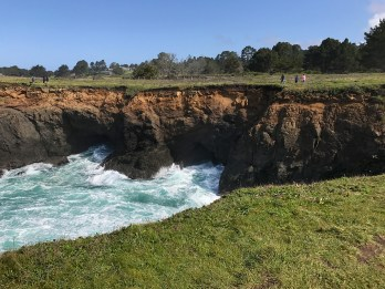 Walking Between The Cliffs and The Devil's Punchbowl Sink Hole