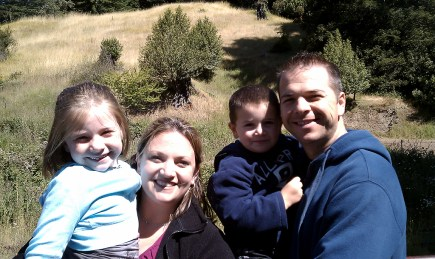 The Bourn Family Riding The Skunk Train in 2010
