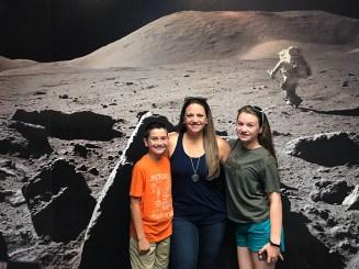 Bourn Family Moon Landing at the NASA Ames Visitor Center