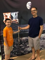 Brian and Carter Bourn Moon Landing