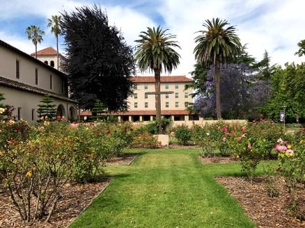 Cemetary Rose Garden at Mission Santa Clara