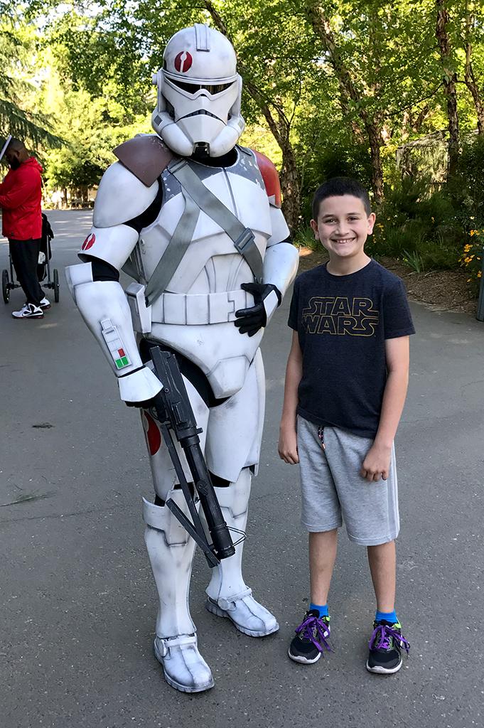 Clone Trooper at Sacramento Zoo Star Wars Day