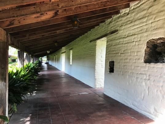Covered Outdoor Walkway at Mission Santa Clara