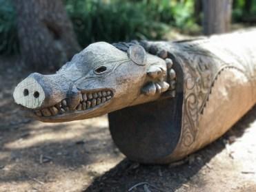 Carved Hog Wooden Sculpture