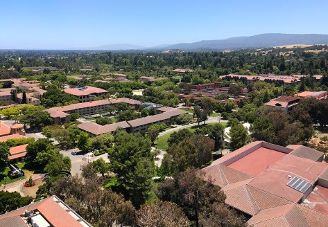 Hoover Tower Observation Deck View of Stanford University