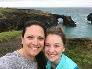 Jennifer and Natalie Bourn Walking the Mendocino Headlands