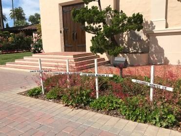 Mission Santa Clara Memorial Crosses
