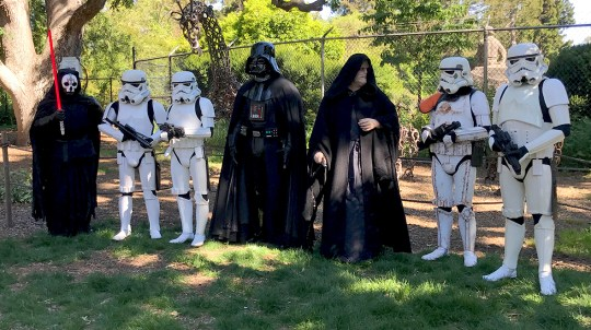 The Dark Side Visits The Sacramento Zoo for Star Wars Day