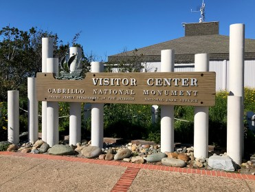 Visitor Center Sign at Cabrillo National Monument