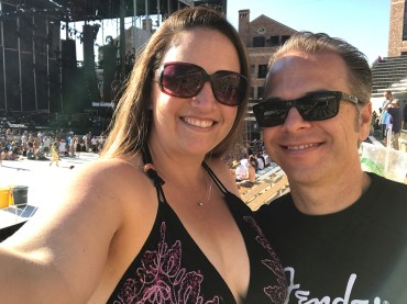 Brian and Jennifer Bourn at Dead & Company Concert at Folsom Field