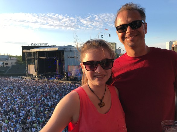 Brian and Natalie Bourn at the Dead & COmpany Wrigley Field Concerts 2017