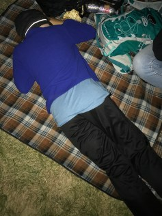 Carter asleep at Dead & Company concert