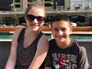 Natalie and Carter of the Chicago Architecture Boat Tour